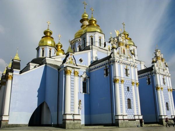 Новопостроенный Михайловский Златоверхий собор