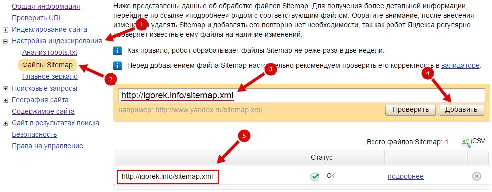 Карта сайта sitemap как сделать